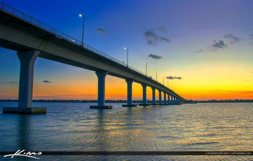 Stuart Florida Okeechobee Waterway Ernest Lyons Bridge