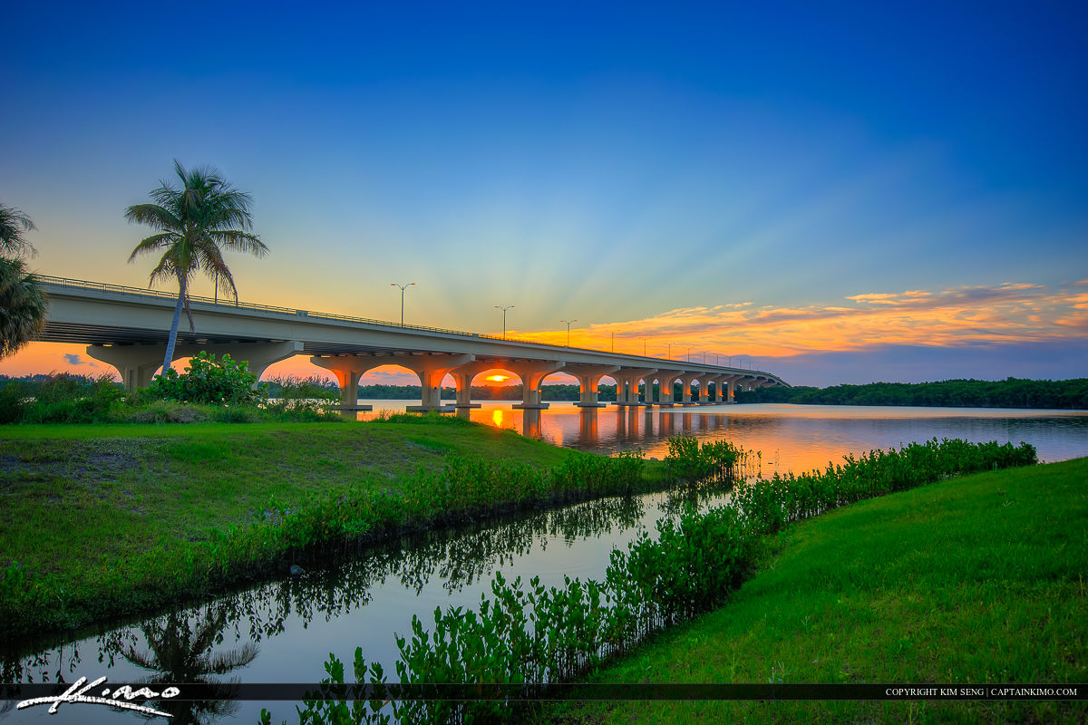 Sunrise Palm City Florida St. Lucie River