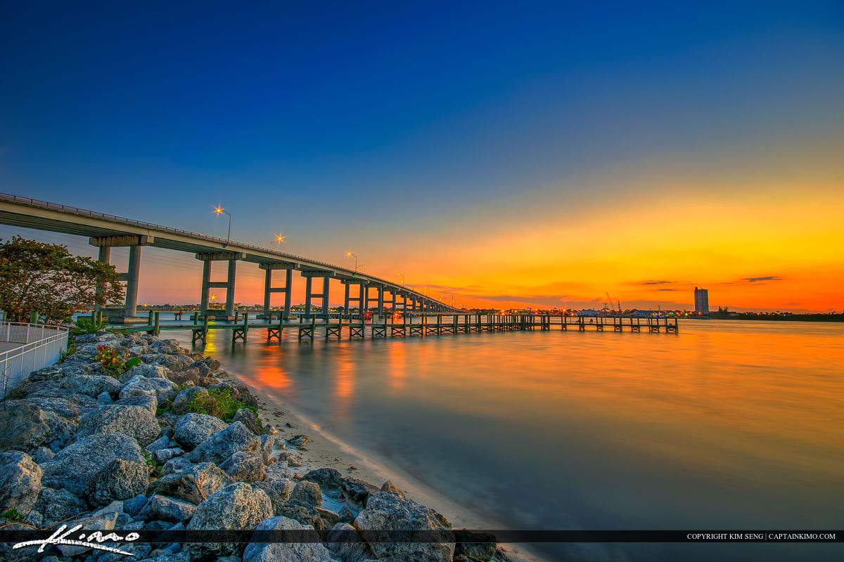 South Causeway Bridge Fort Pierce Florida Sunset
