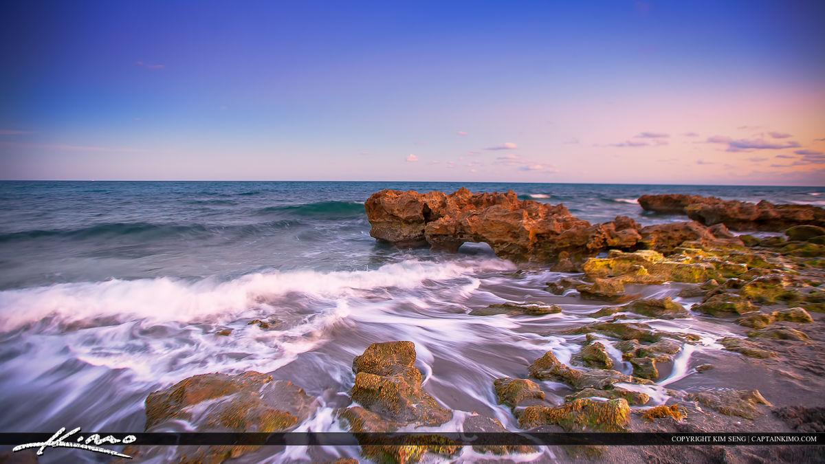 Receeding Ocean Waters at Coral Cove Park Tequesta