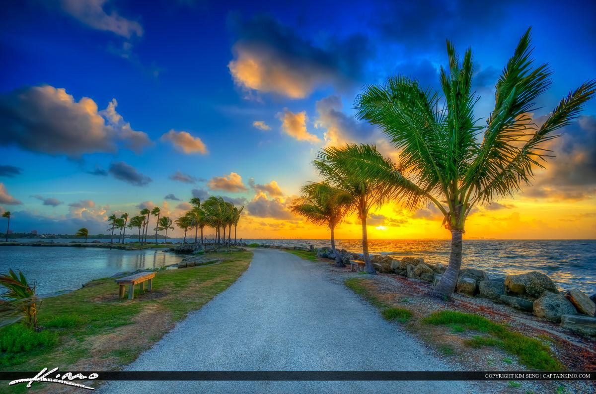 Coral Gables Florida Sunrise from Matheson Hammock Park