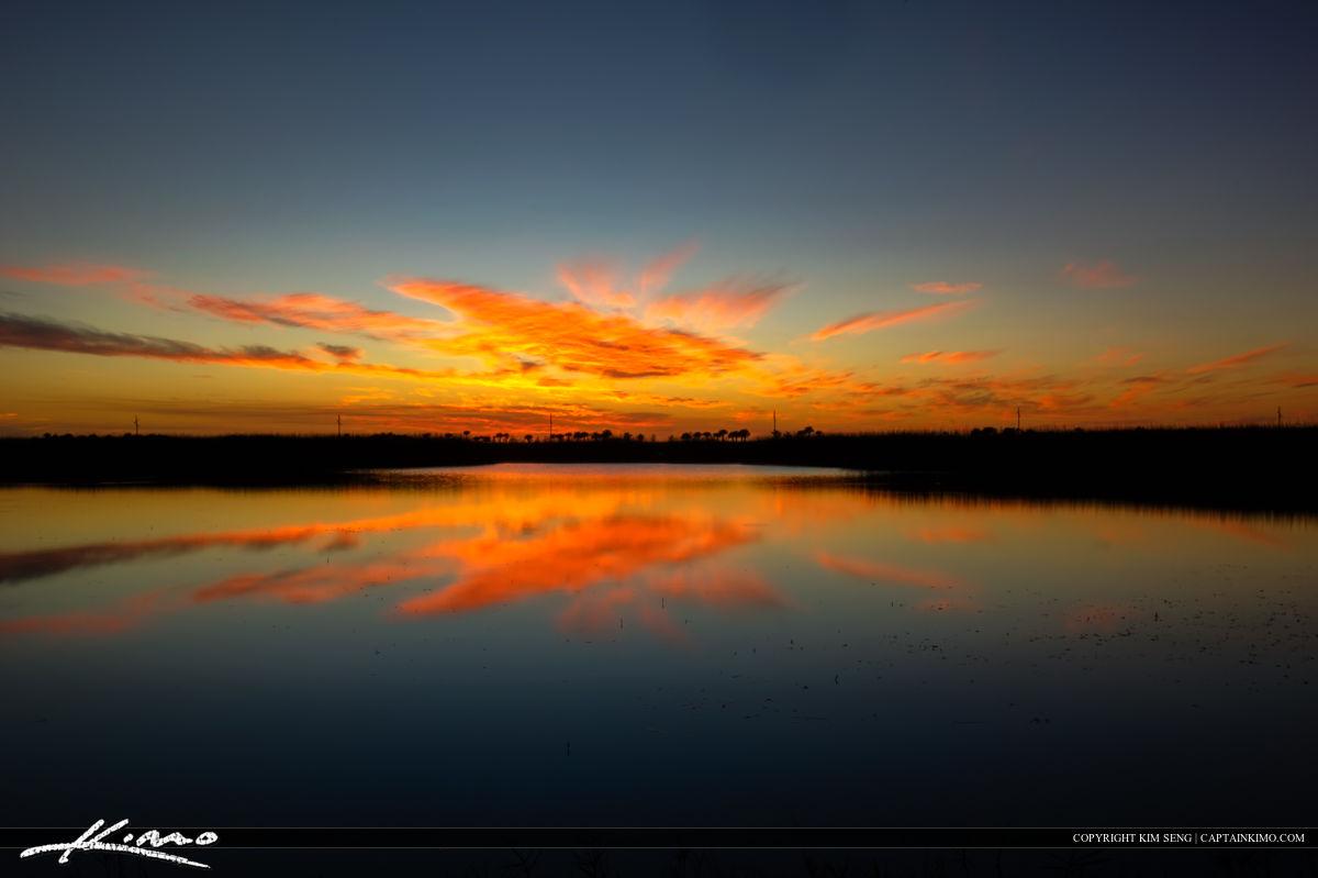 Wellington Preserve Sunset at Wetlands Dark Colors