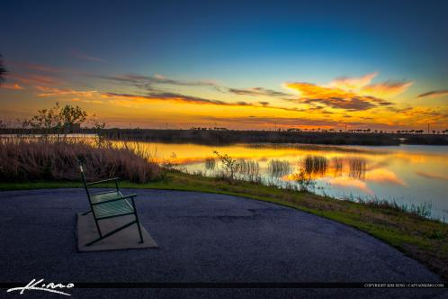 Wellington Preserve Sunset at Wetlands at the Bench