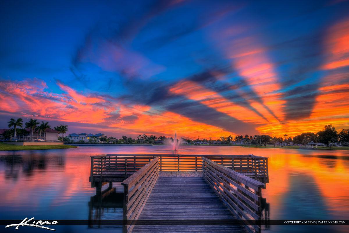 Fishing Dock at Lakeside Challenger Park Royal Palm Beach
