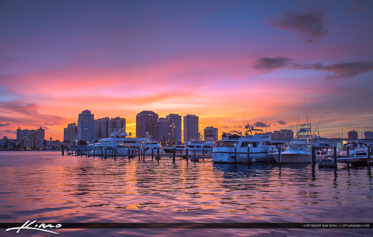 Palm Beach Island Marina West Palm Beach Sunset