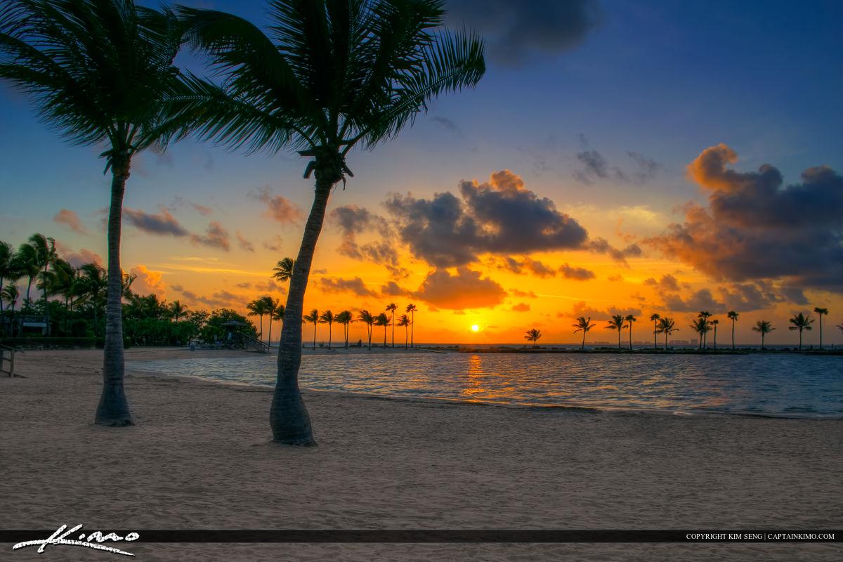 Sunrise at Coral Gables Florida at the Beach