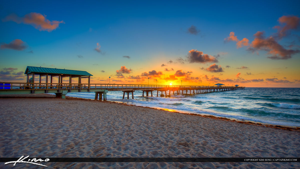 Sunrise at the Pier in Fort Lauderdale by the Sea Beach