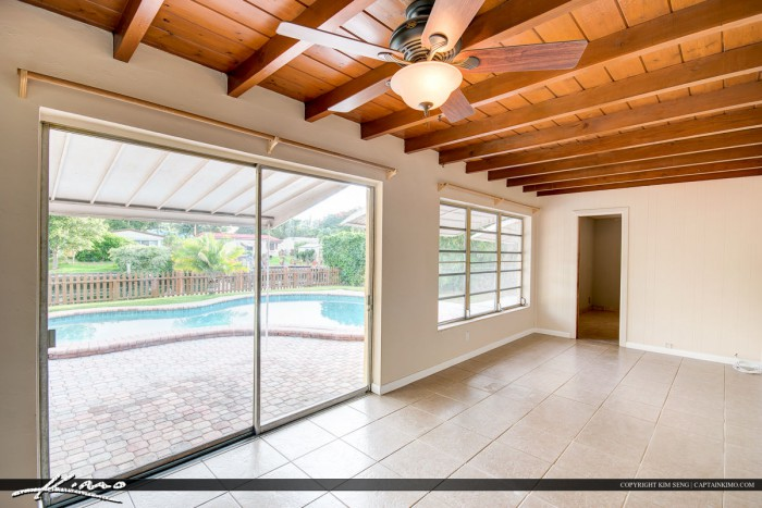 Back Patio in a Home Hollywood Florida