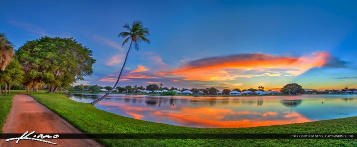 Sunset at Lake Panorama Palm Beach Gardens Florida
