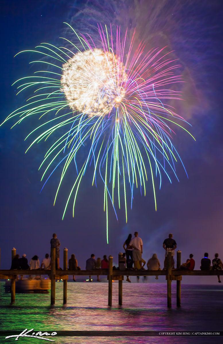 Sebastian Fireworks Fourth if July Display