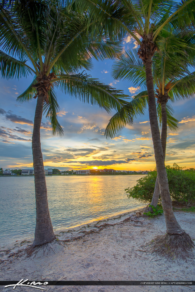 Sunset Over Tequesta Florida along the Waterway Jupiter Island
