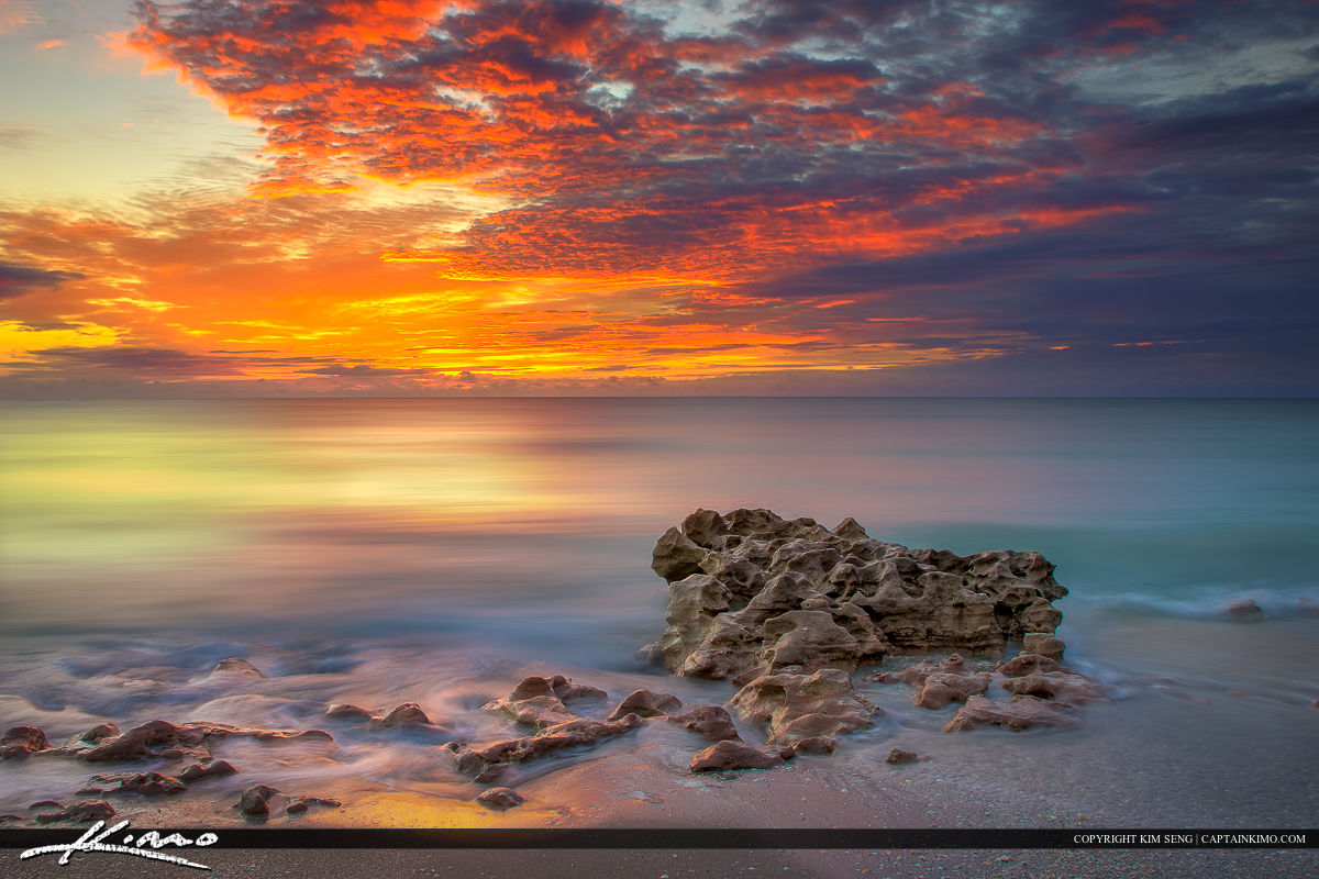 Color in the Clouds at Coral Cove Park Jupiter Island