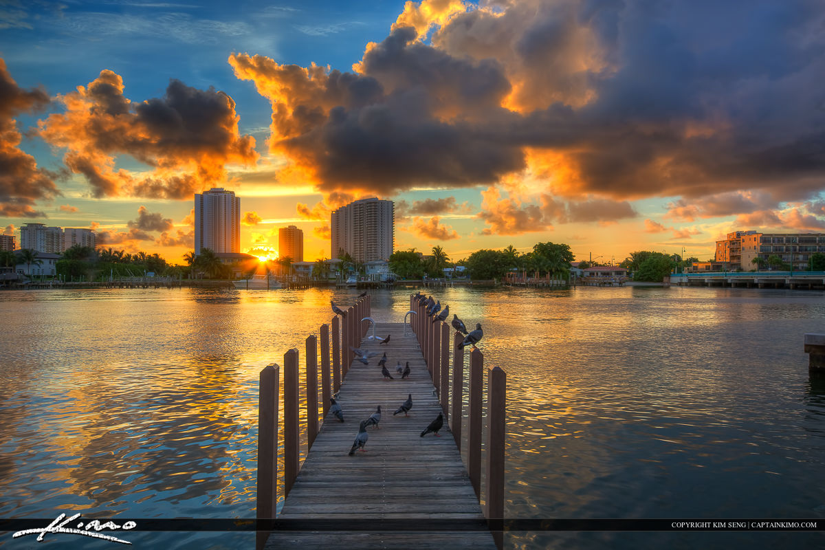 Dock at Phil Foster Park Riviera Beach Florida