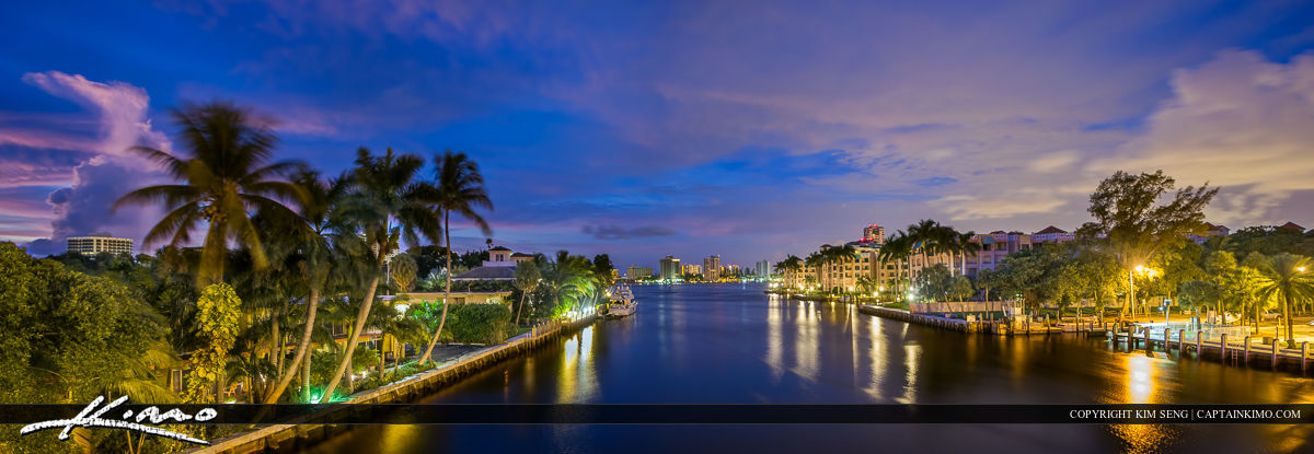 Boca Raton Waterway Panorama City Skyline