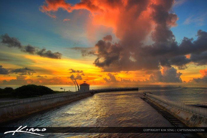Boynton Beach Inlet Beach Sunrise at Jetty