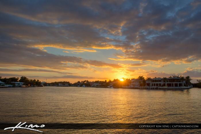 Boca Raton Lifestyle Photos Sunset Over Waterway