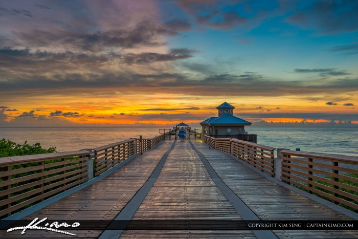 Juno Beach Pier Down the Boardwalk