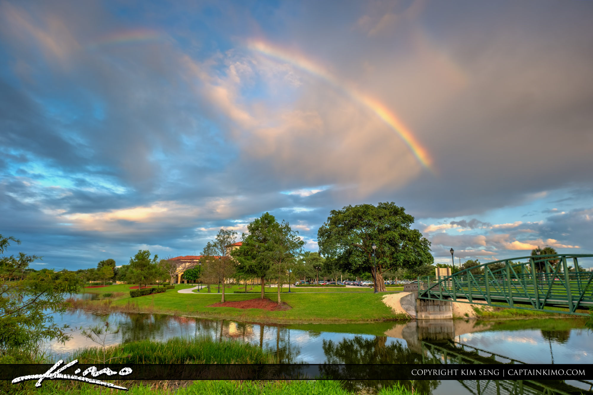 Boca Raton Spanish River Library Rainbow