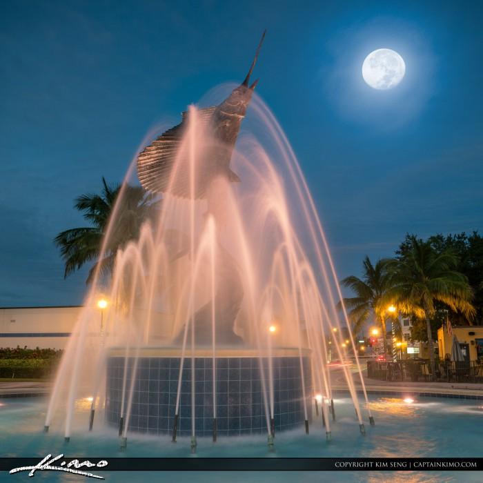 Sailfish Statue Water Fountain Stuart Florida