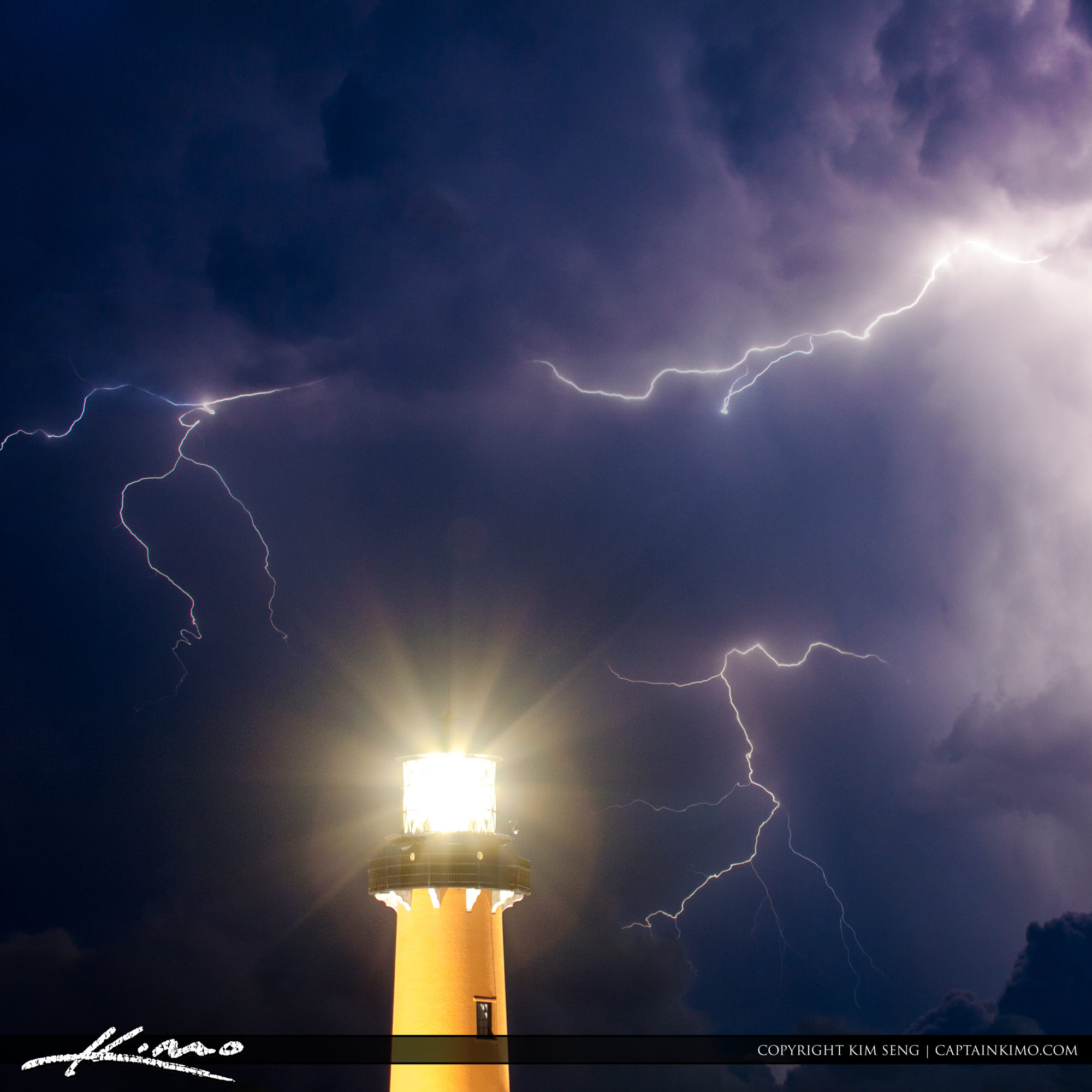 Lighthouse in Lightning Storm