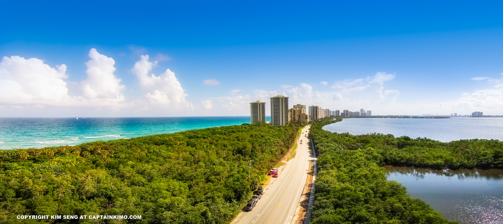 Singer Island Florida Condo Aerial View from Burnt Bridge