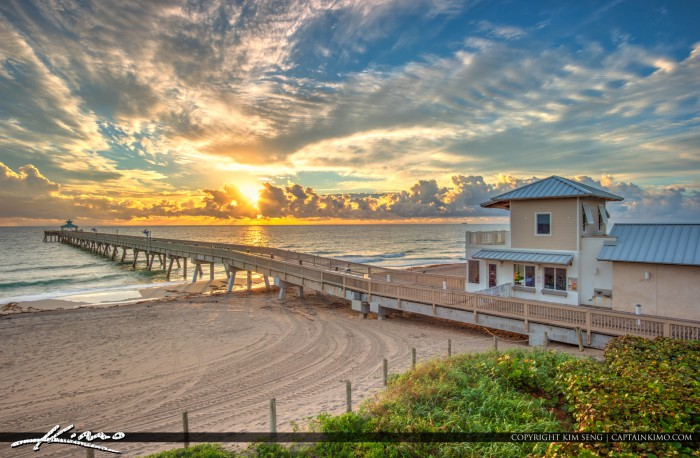 Sunrise at the Pier in Deerfield Beach