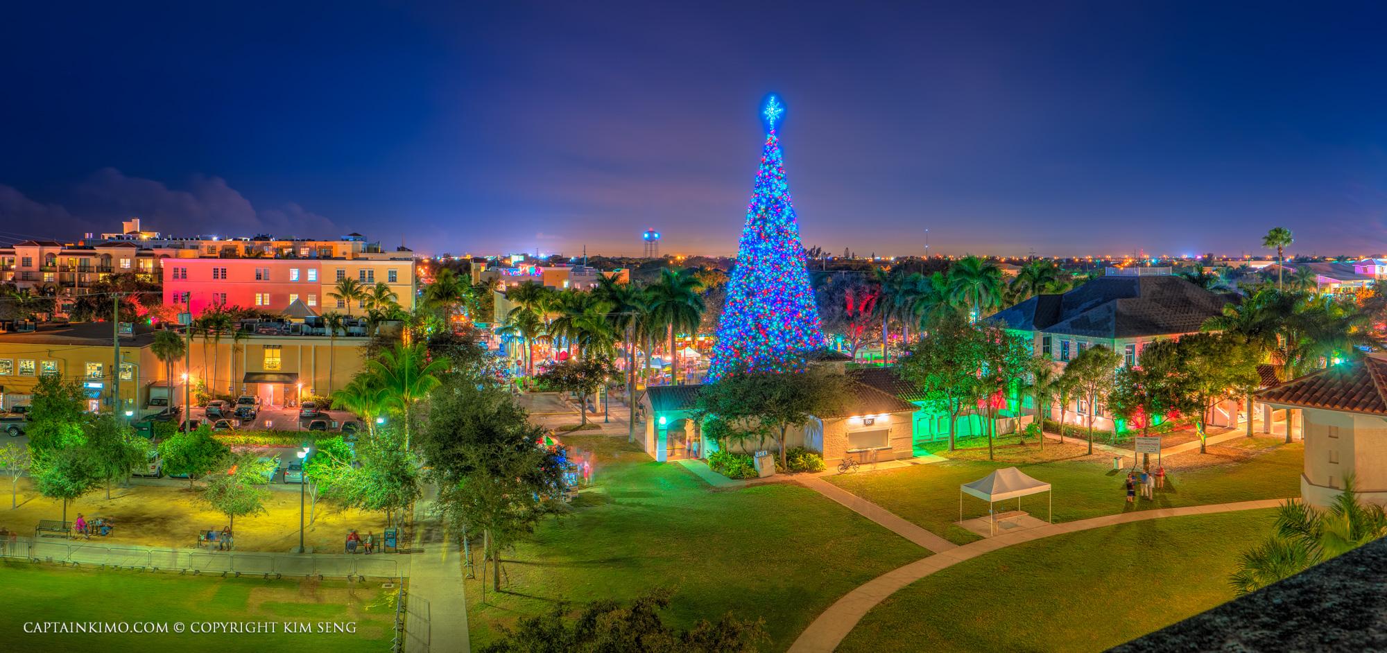 Delray Beach 100ft Christmas Tree 2015