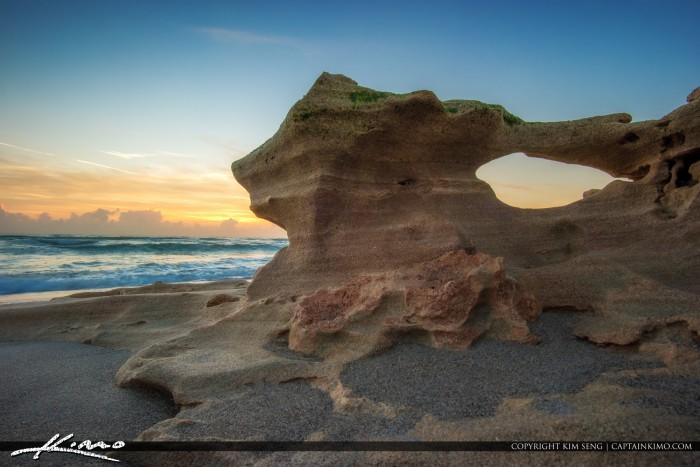 Bridge Rock Formation at Beach Jupiter Florida