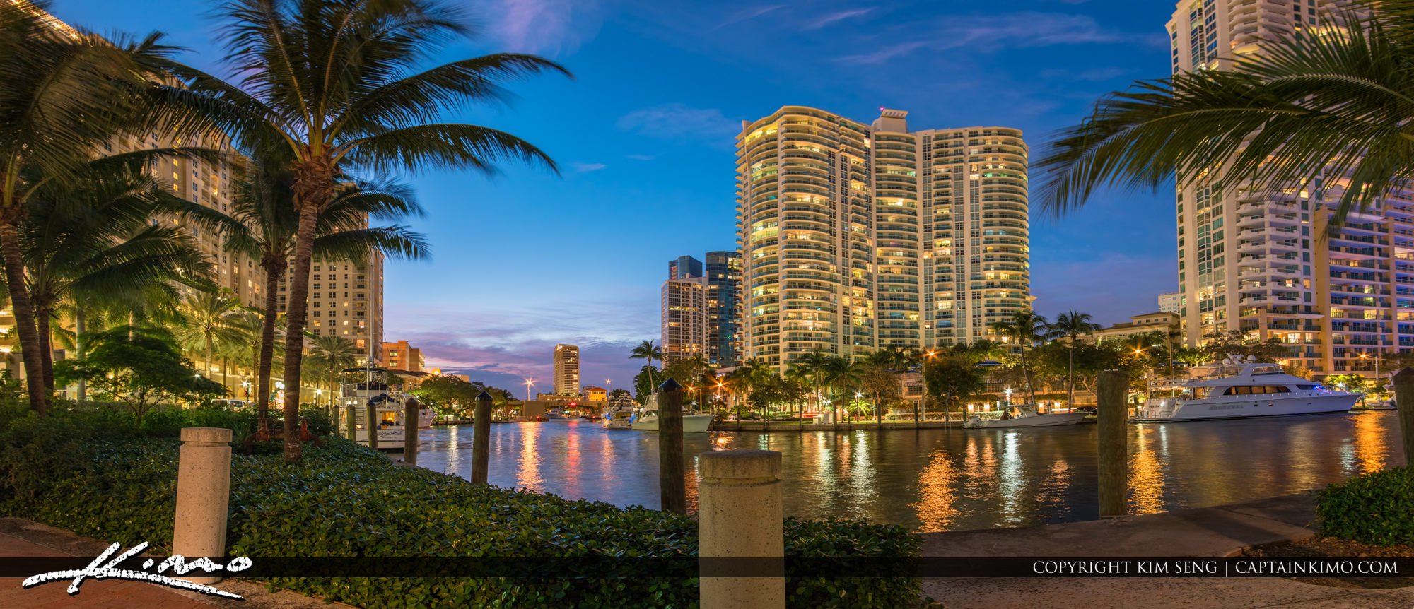 Panorama Fort Lauderdale Cityscape New River