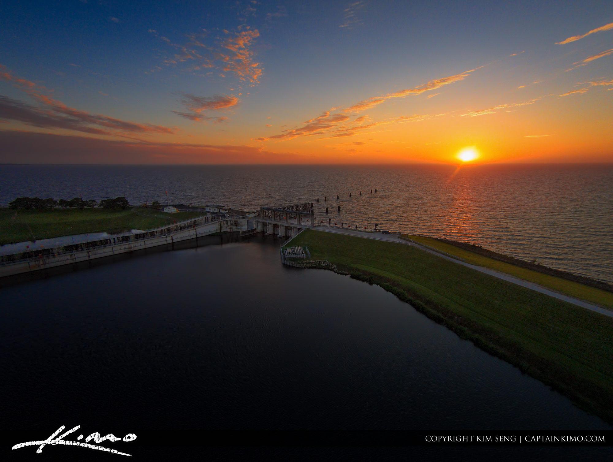 Okeechobee Lake Sunset from Port Mayaca Florida