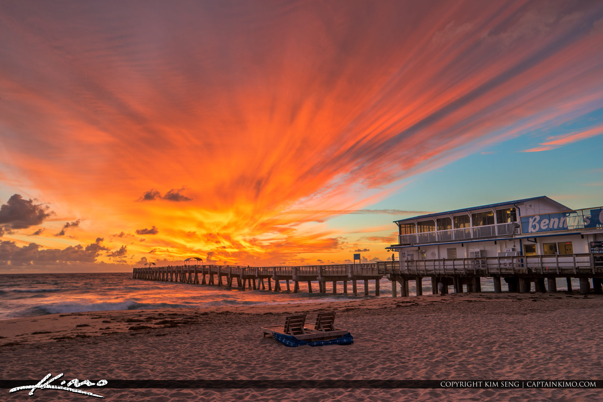 Lake Worth Pier Explosive Colors at Sunrise