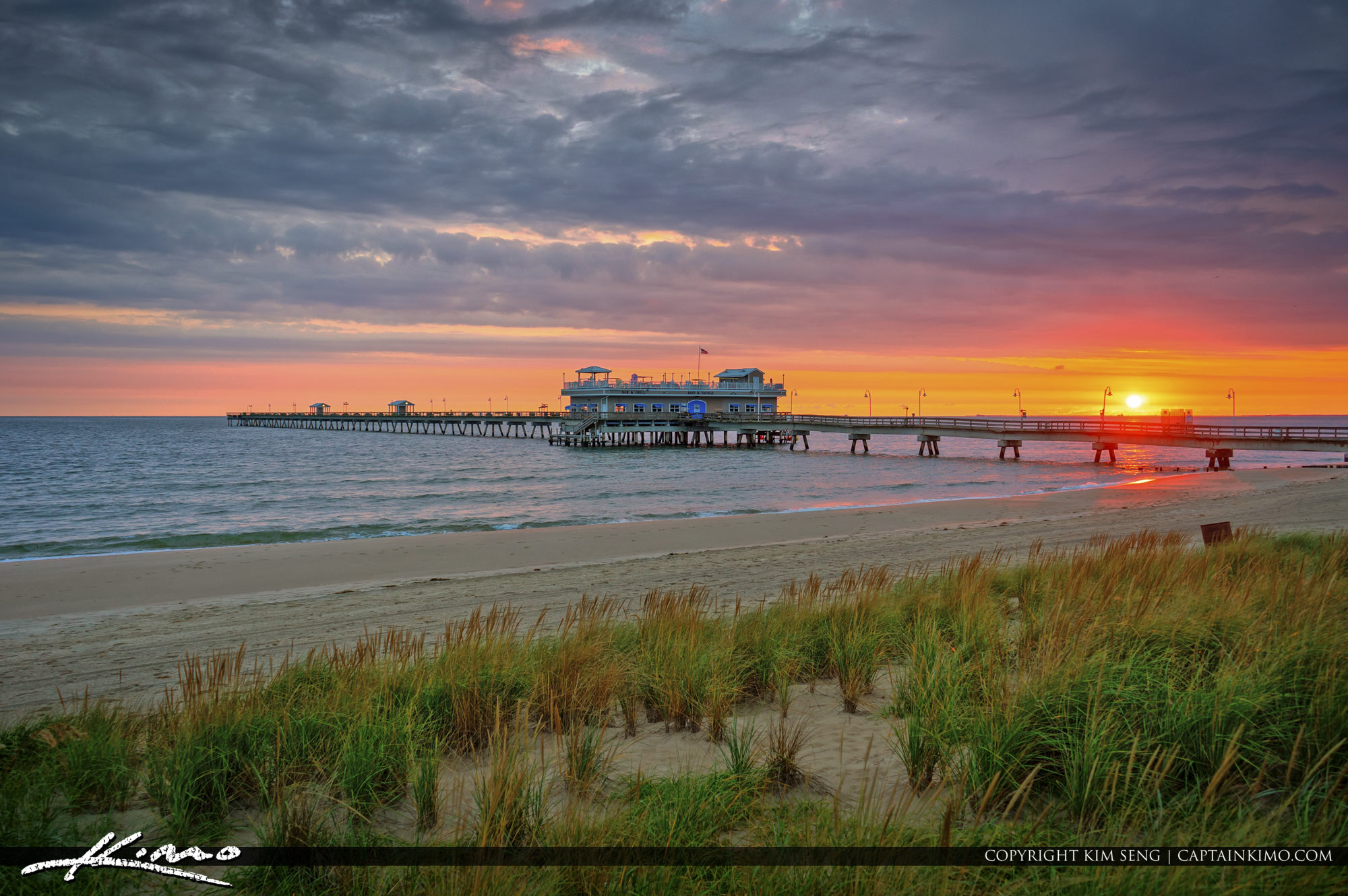 Sunrise along the Pier in Virgina Beach
