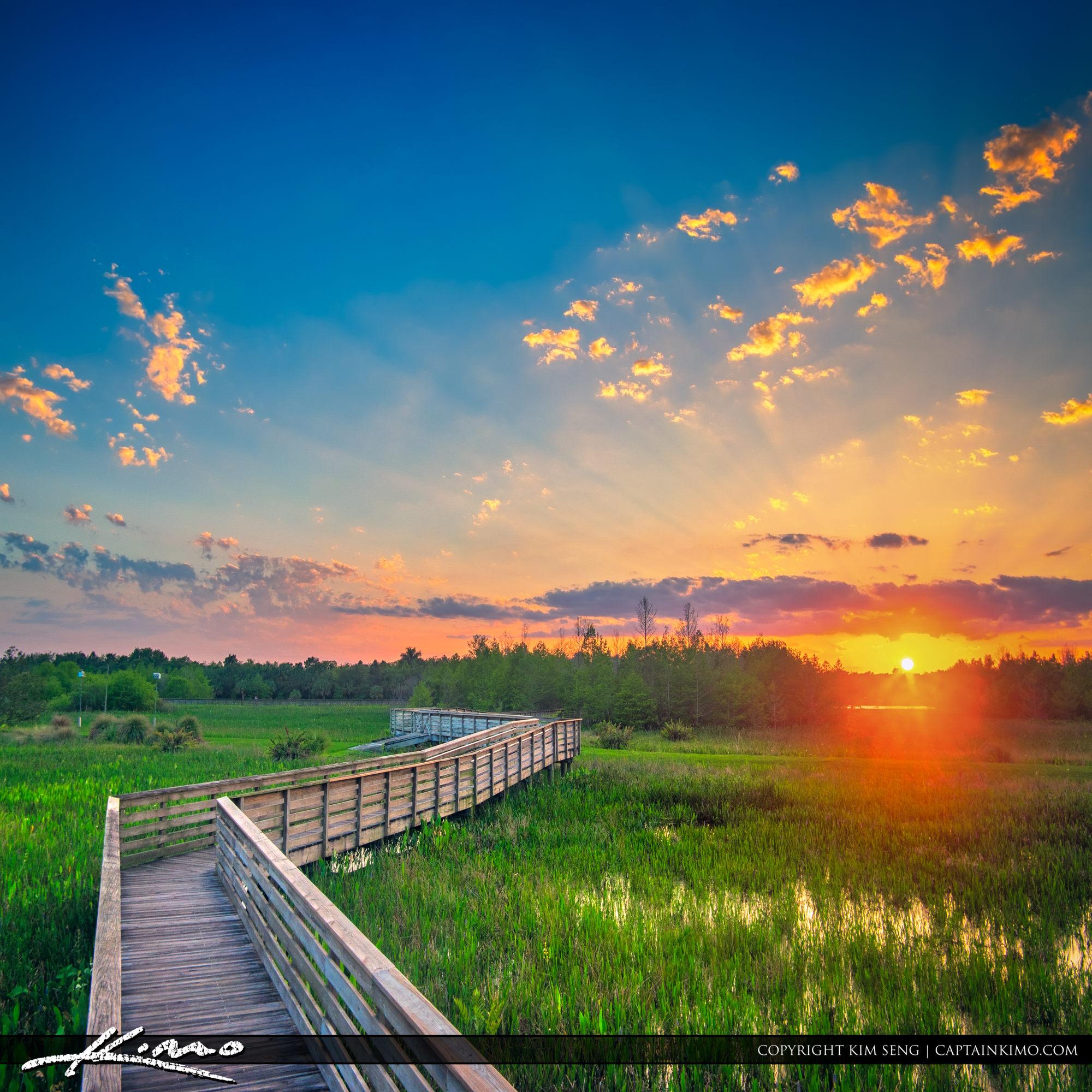 Sunset from Green Cay Wetlands Boynton Beach