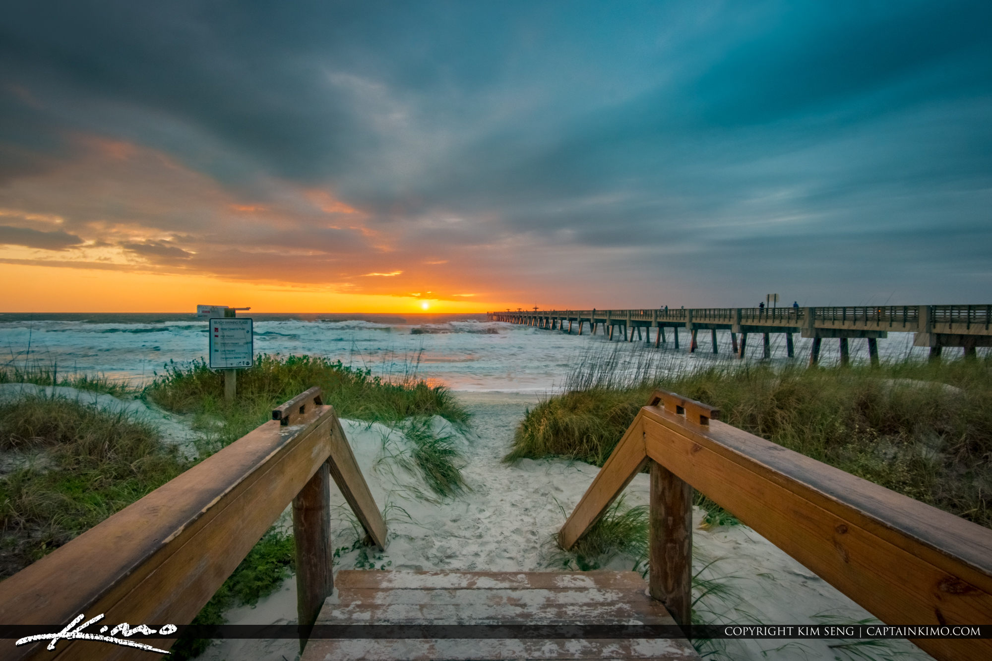 Jacksonville Beach Pier Florida Sunrise