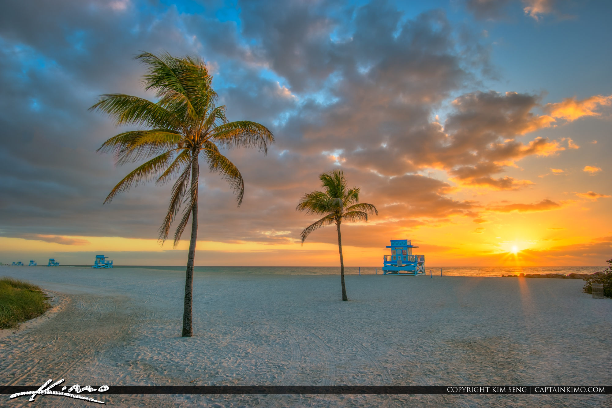 Lifeguard Tower at Sunrise Haulover Inlet