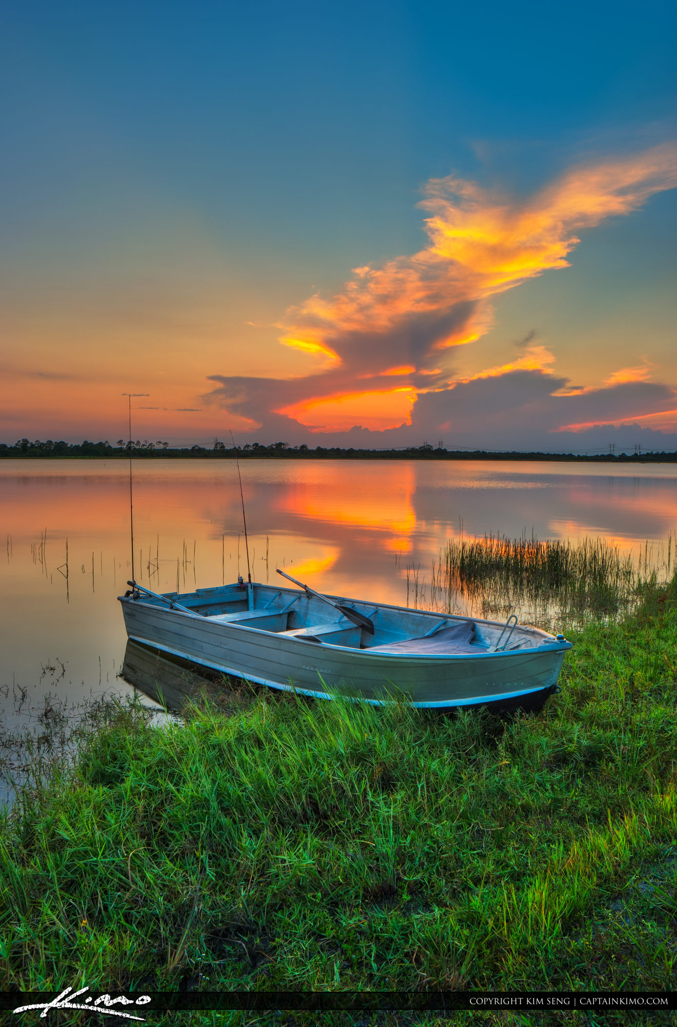 McCarty Ranch Preserve Sunset at Lake Port St Lucie Florida