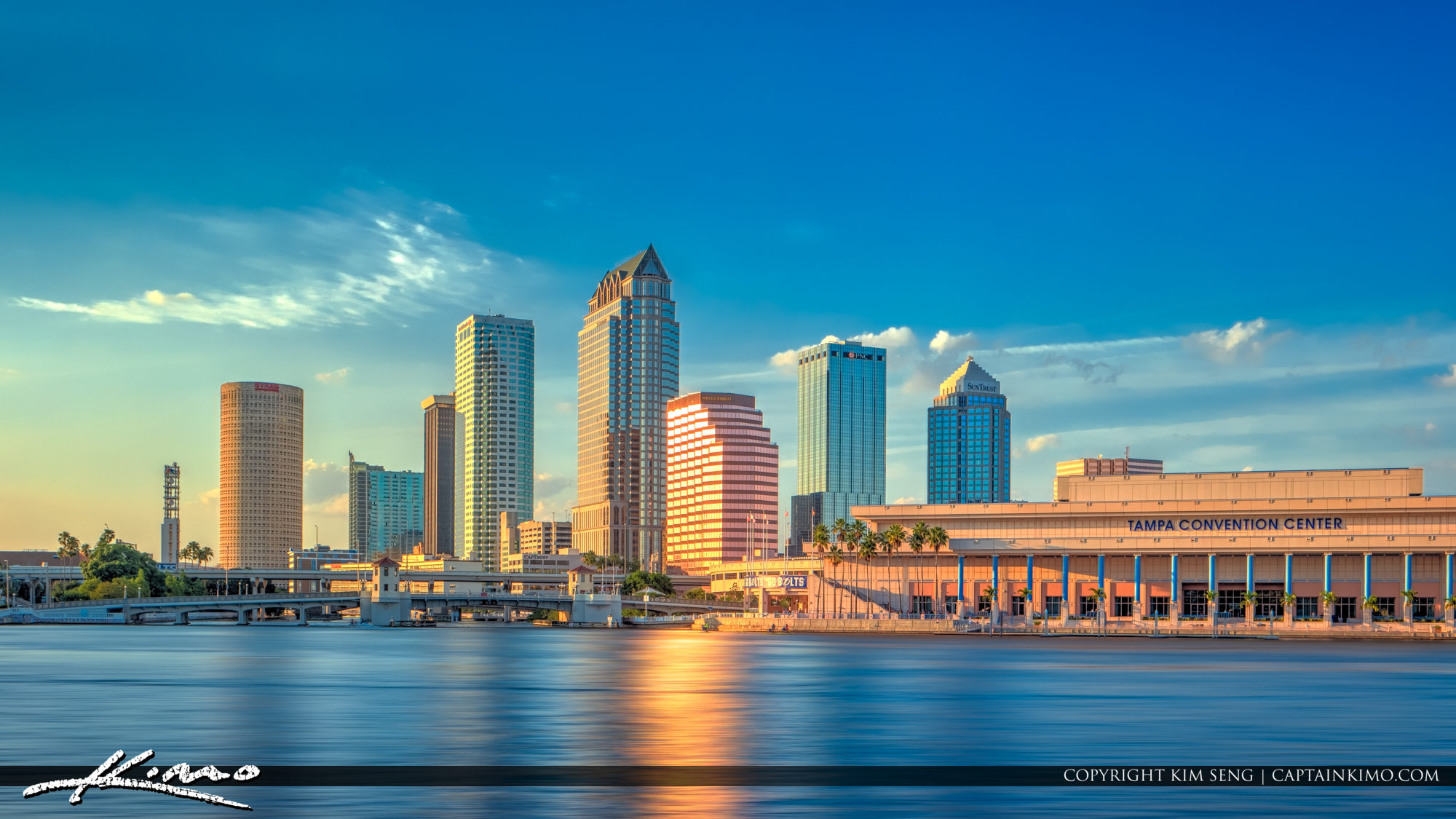 Tampa City Skyline HIllsborough River Florida
