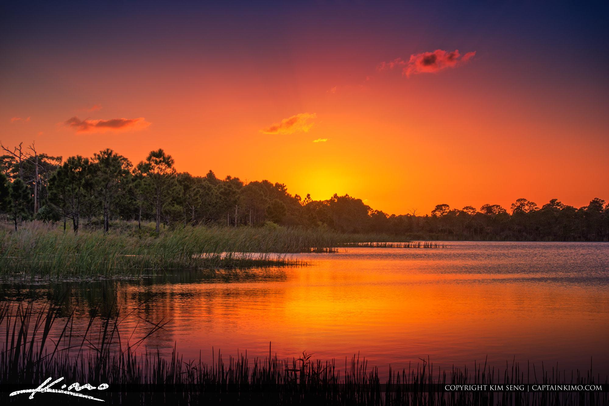 George LeStrange Preserve Sunset at Lake Fort Pierce