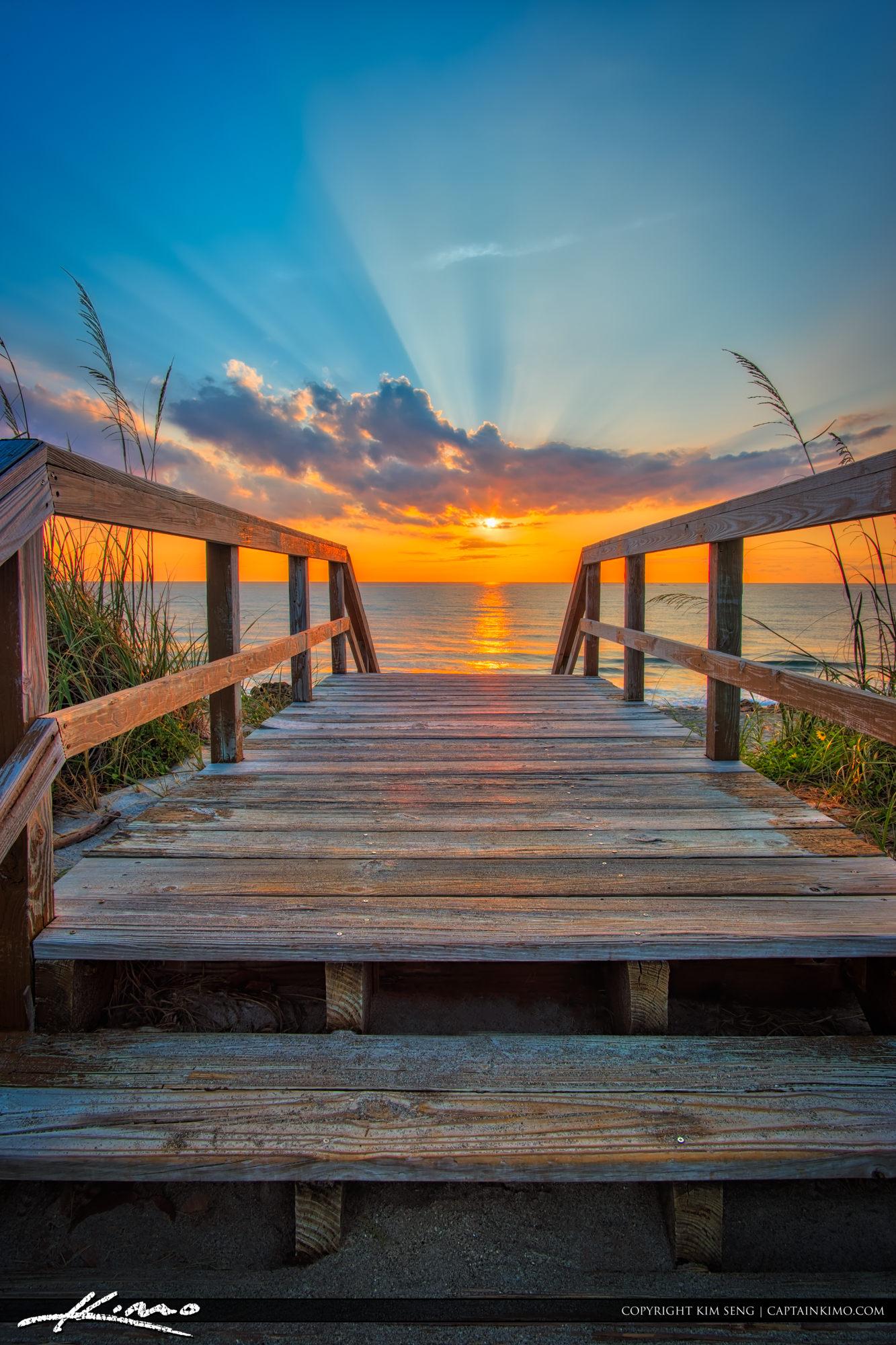 Stairway to Heaven Sunrise at Beach