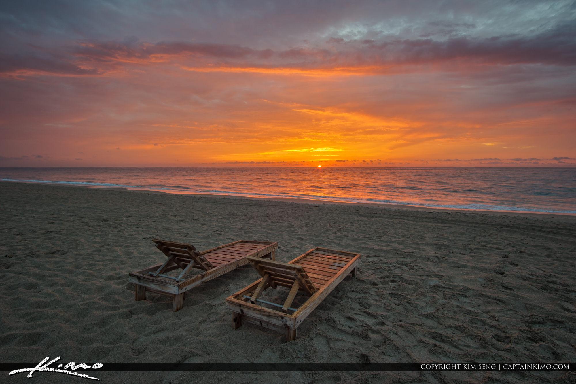 Beach Chairs Florida Sunrise