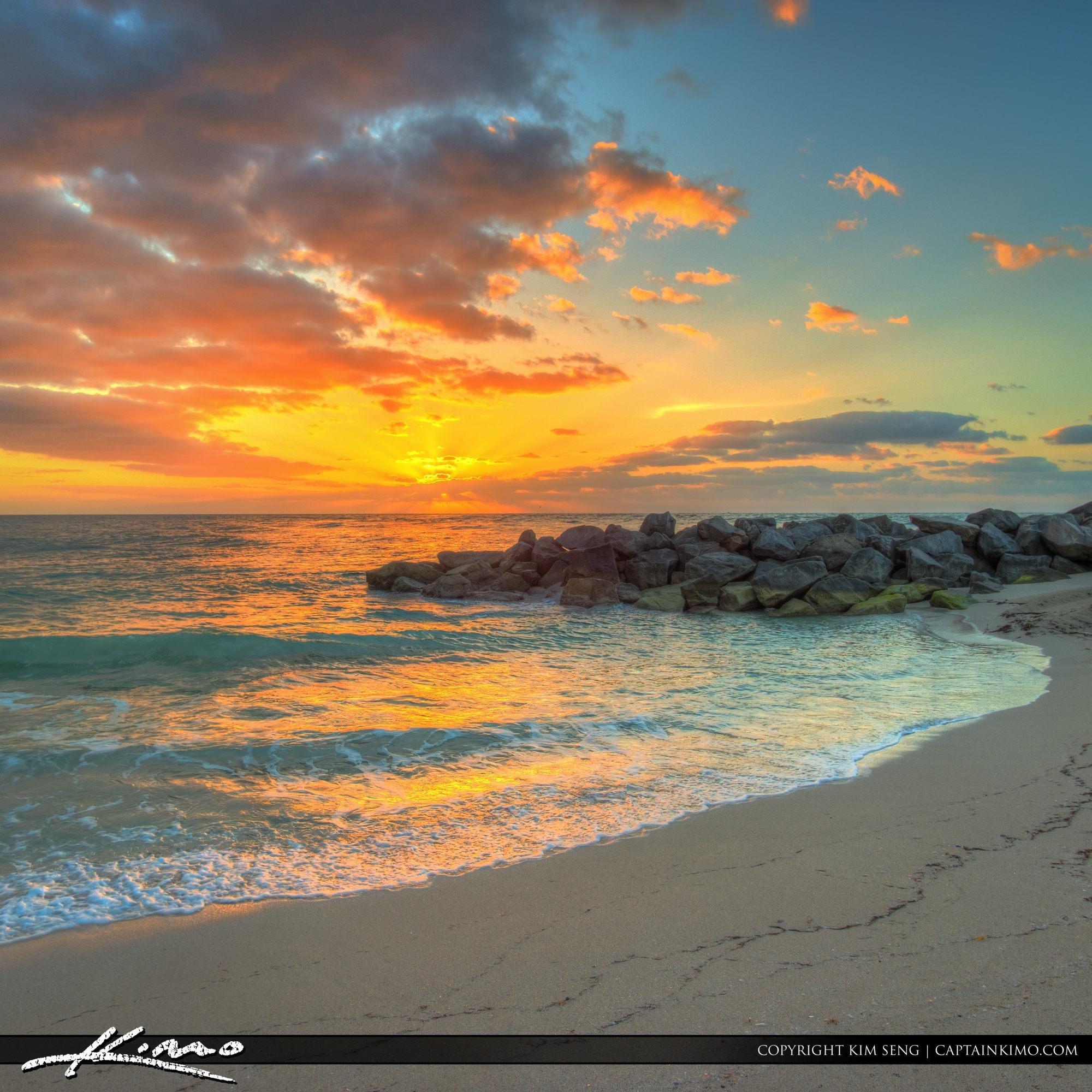 Haulover Park Florida Beach at Sunrise