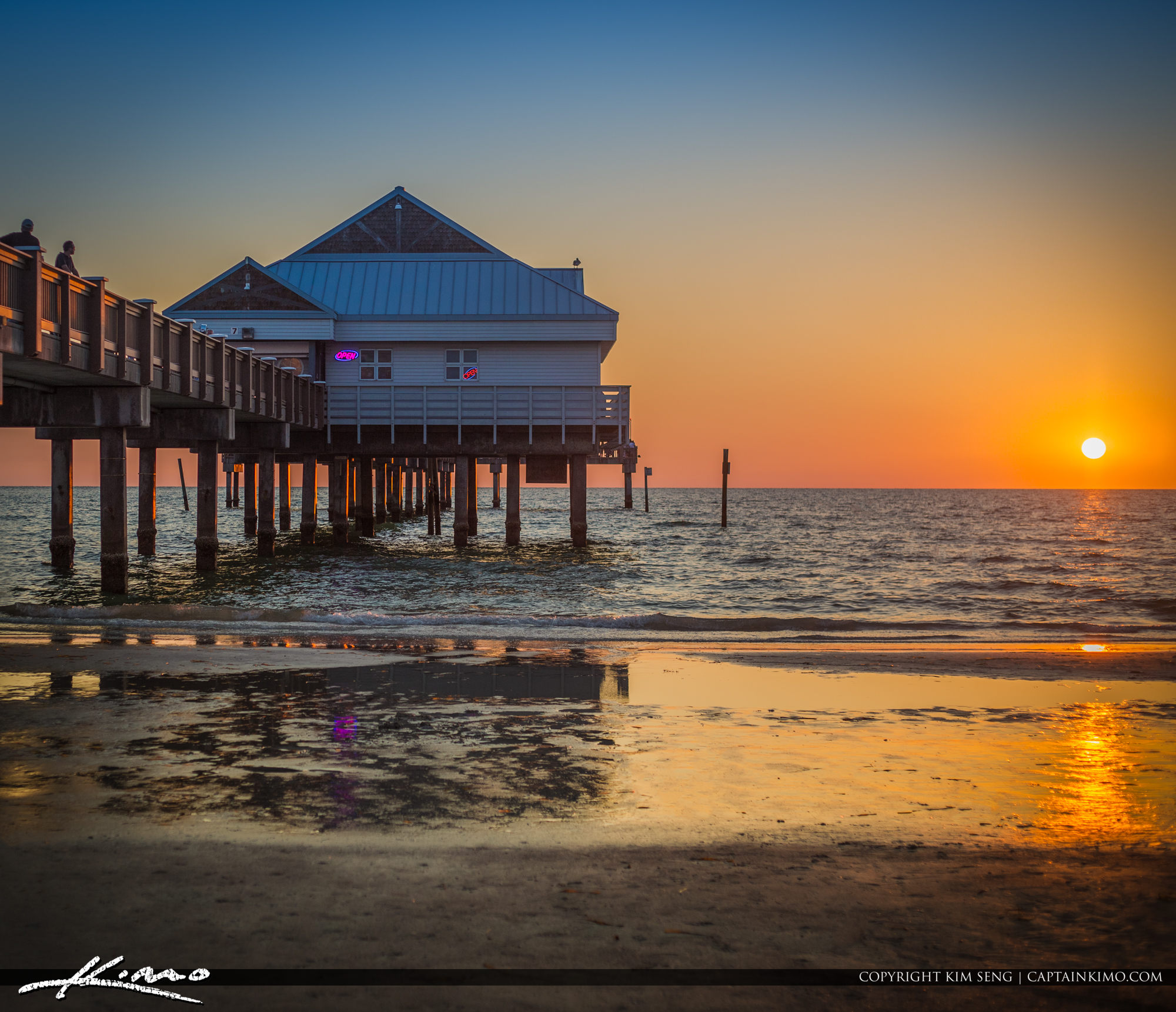 Clearwater Pier Beautiful Sunset