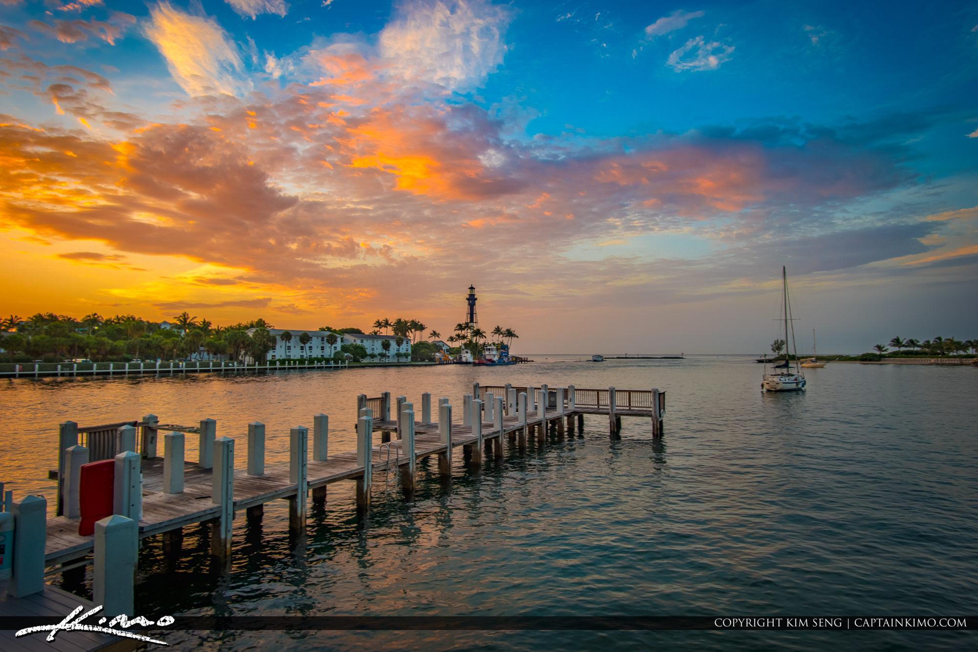 Hillsboro Lighthouse Sunrise Pompano Beach South Florida Colors