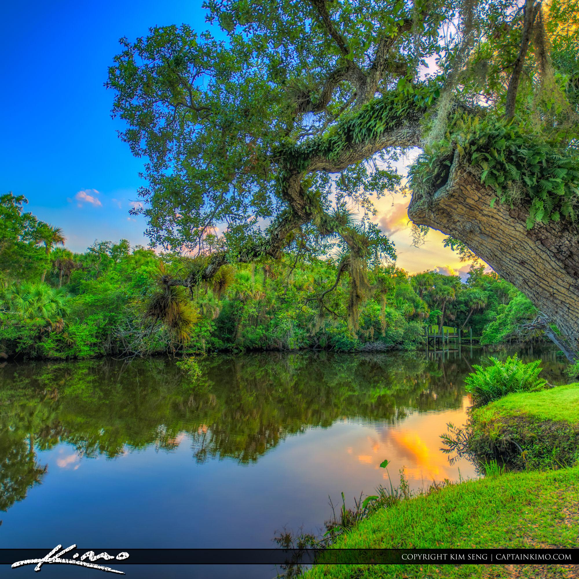 St Lucie River at White City Park Fort Pierce Florida