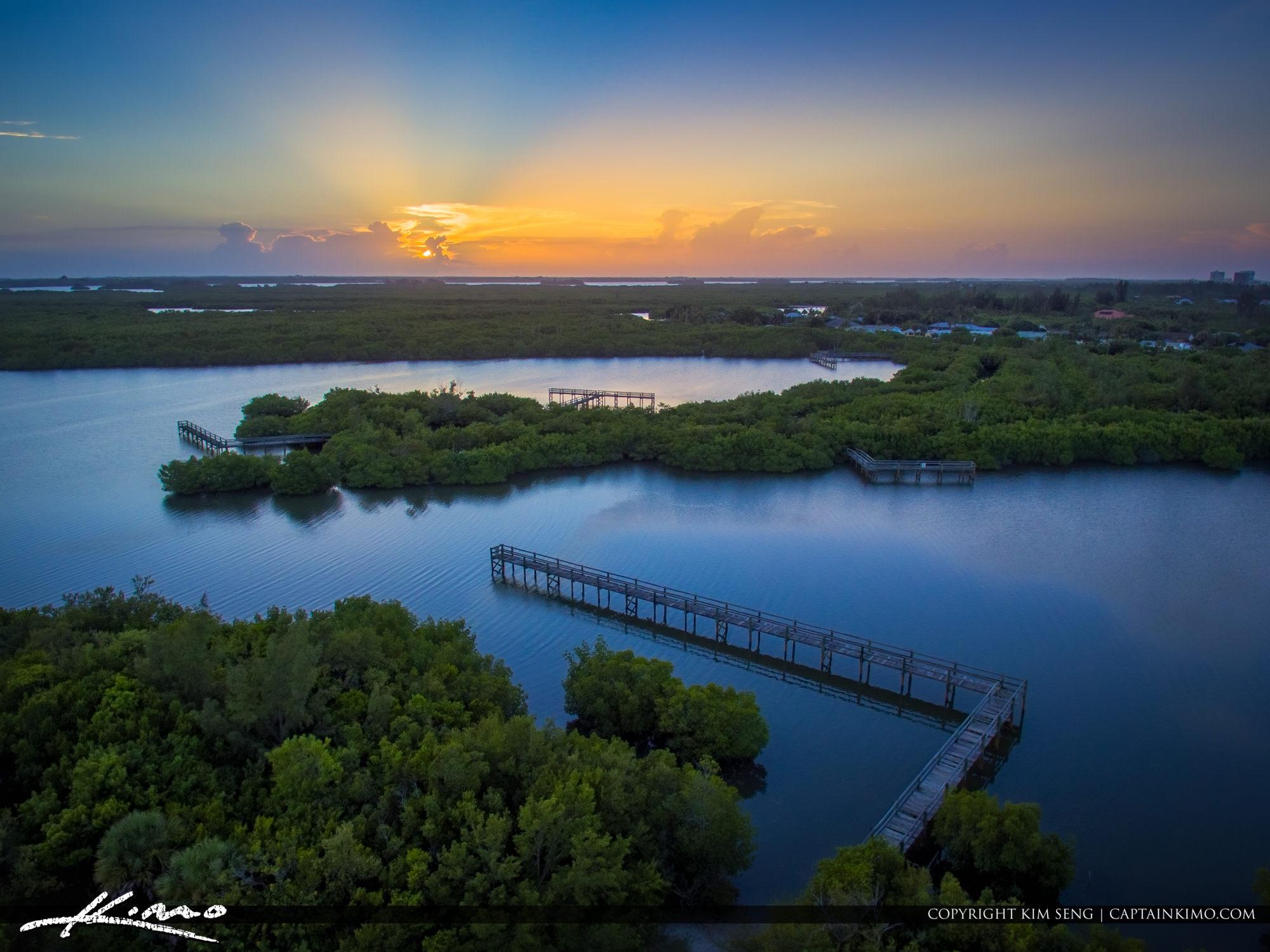 Sunset Over Fort Pierce at Pepper Park Florida