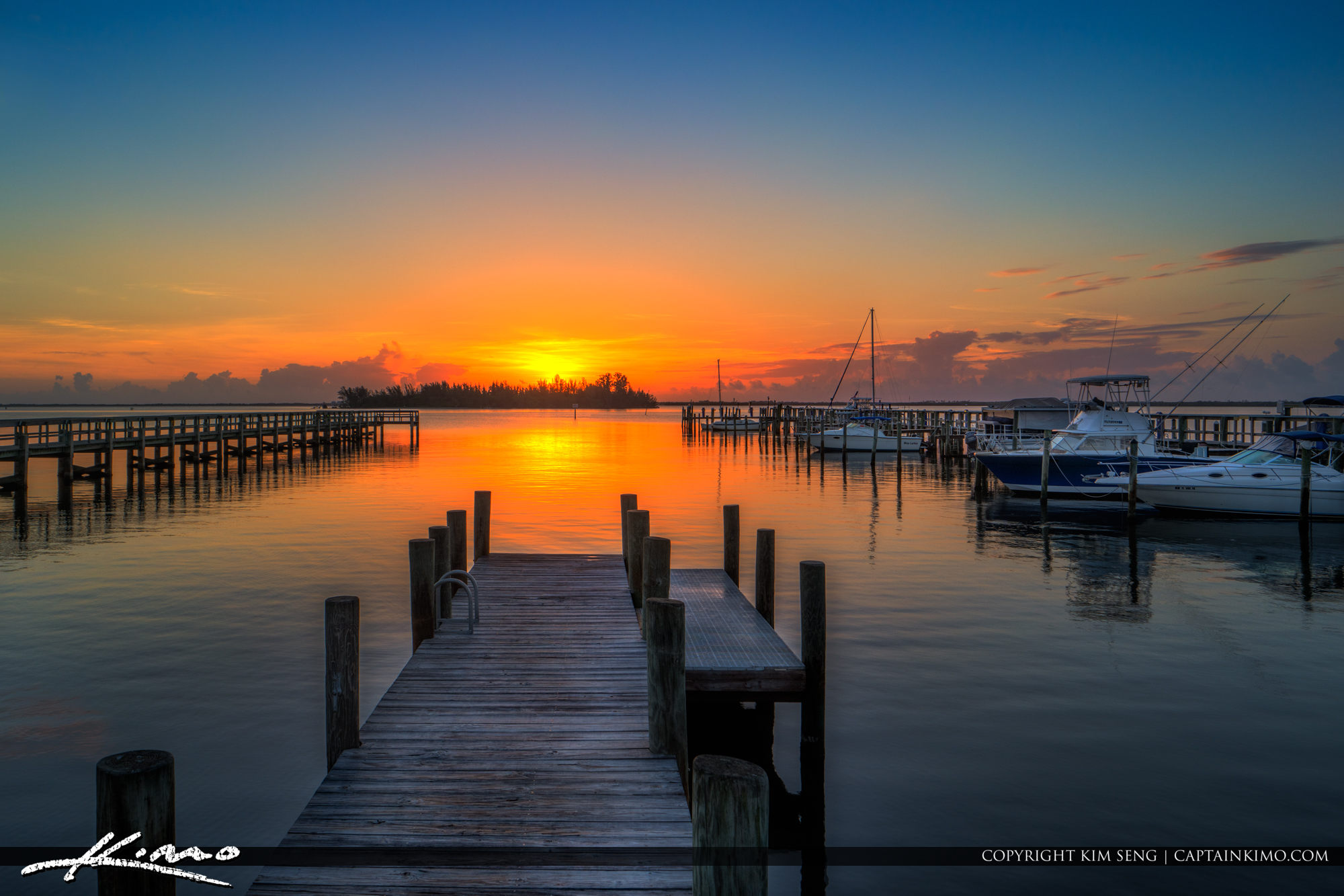 Sebastian Yacht Club Boat Ramp at Sunrise