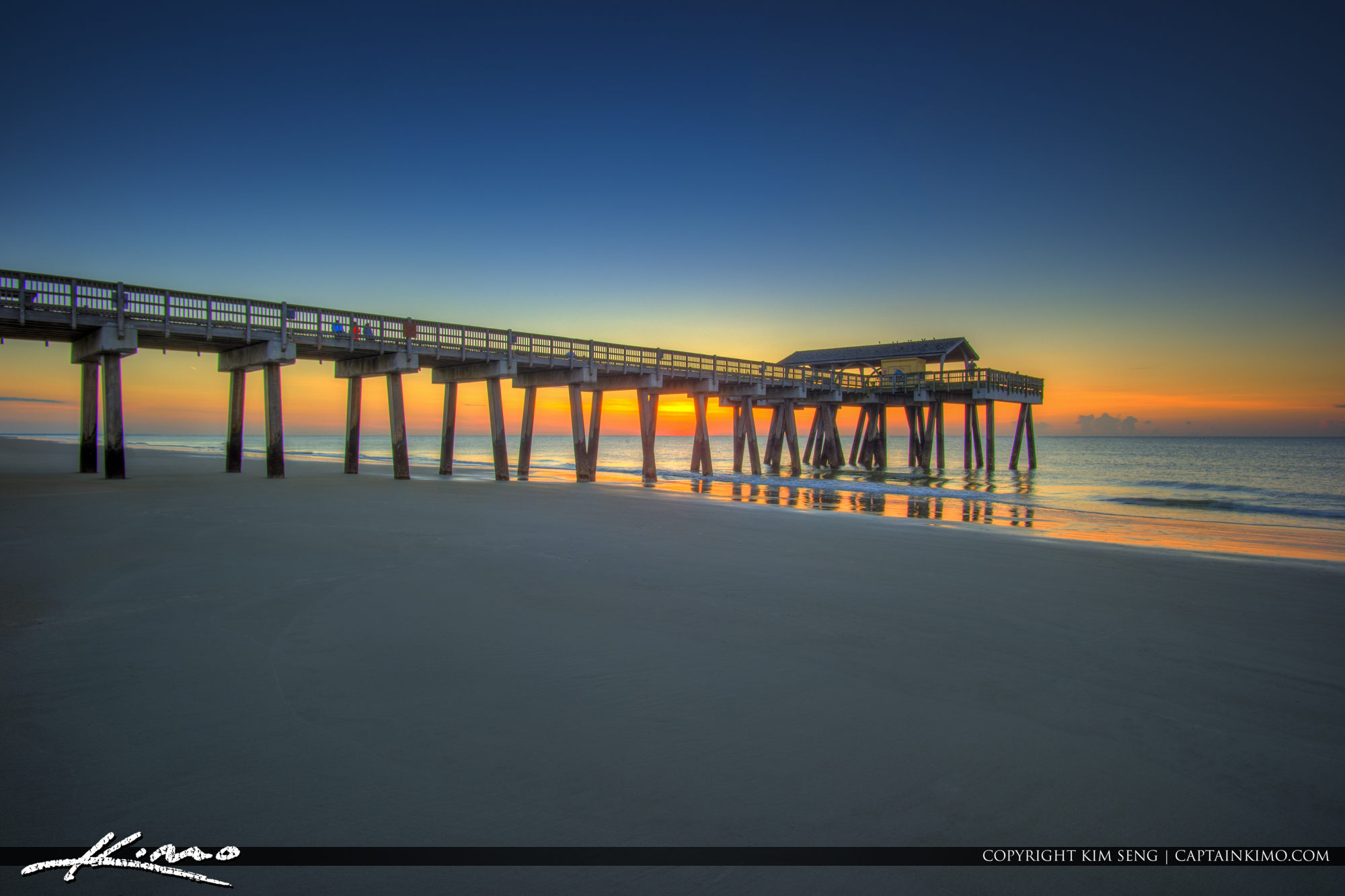Tybee Island Pier Sunrise Georgia Beach