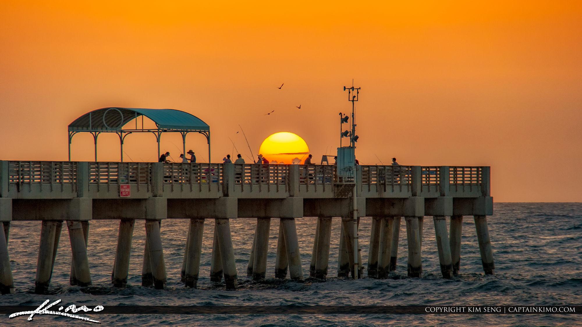Lake Worth Pier Sunrise Fishing