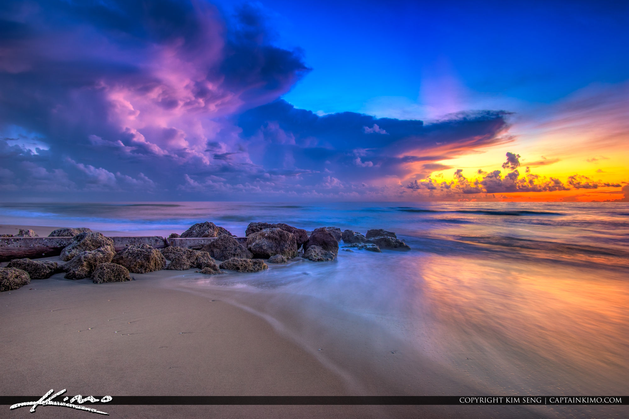 Sunrise Palm Beach Island Florida Cloud Colors