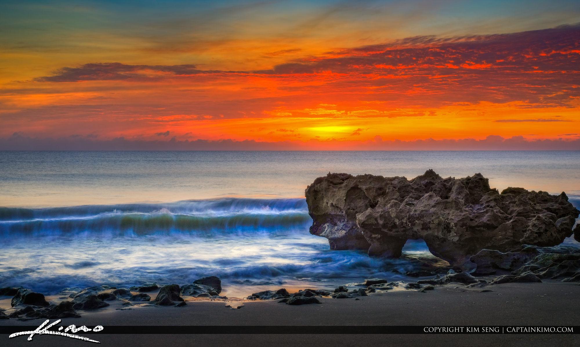 Wave Rush South Florida Beach Sunrise